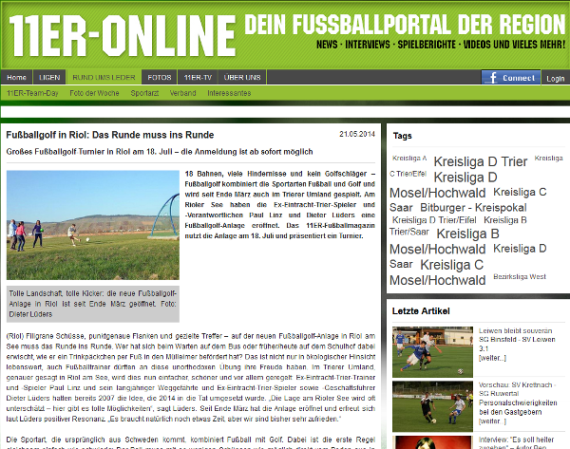 Fussballgolf Triolago Presse